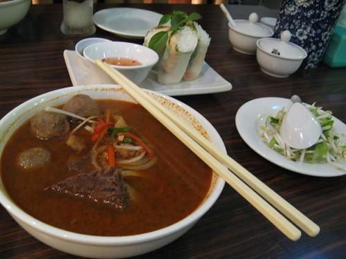 Beef noodles spicy