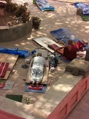 monks prostrating before mahabodi