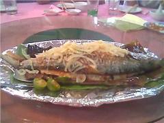 Grilled ikan terubok