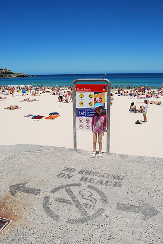 Grace at Bondi Beach.