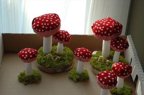 Plush Mushroom group