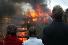 fire - onlookers, arson