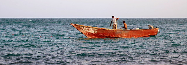 Offshore fishermen in Aden