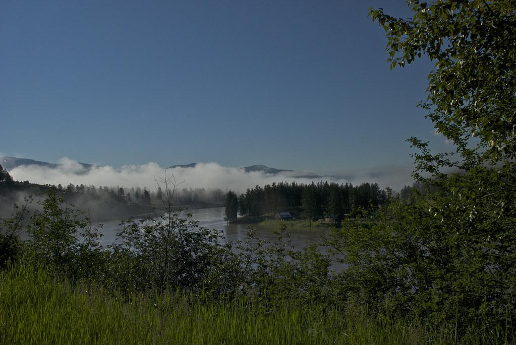 Clark Fork River scene