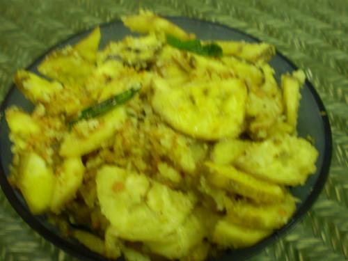 Plantain curry made for maasa pirappu and aamavasyaa.