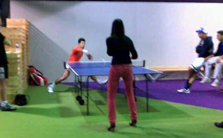 djokovic - table tennis - stilettos