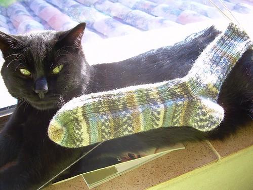 Grito modelling octubre socks