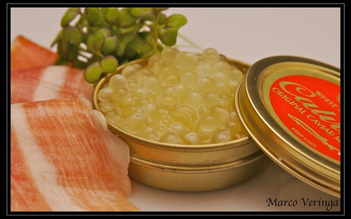 Caviar of Melon with Iberico Ham