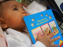 Little Sarah is hungry for books