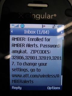 Mobile amber alert image