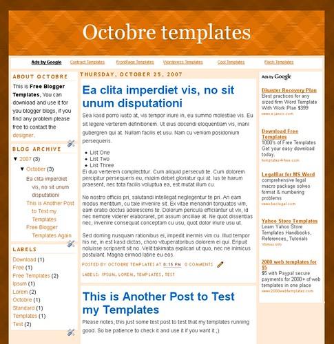 Octobre Templates Screenshot