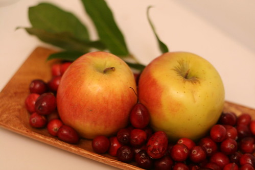 Local cranberries and apples