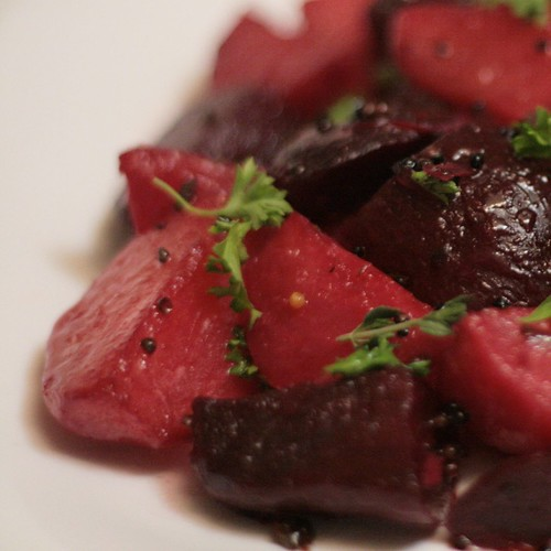 Sauteed Beets with Mustard and Lemon