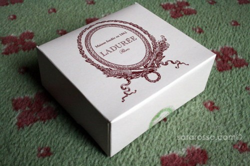 The Laduree box of macarons