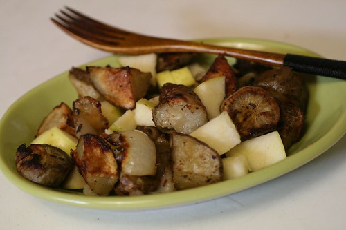 Roasted Roots and Apple