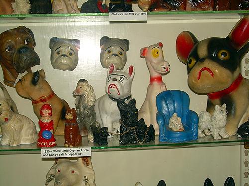 Shelf of dogs