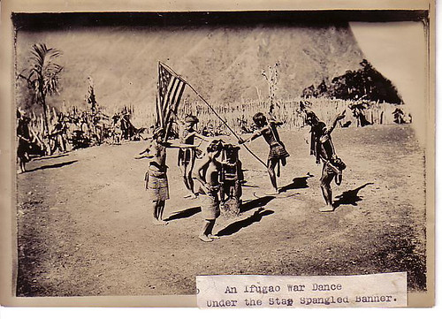 This photo was taken from an album that belonged to an American army officer who was posted in the Philippines in the early 1900s. The Philippines was an American colony from 1898 until 1946. traditional dance  Philippine Buhay Pinoy Noon old pictures photograph black and white Philippines  Filipino Pilipino  people photos life Philippinen indigenous tribe tribal