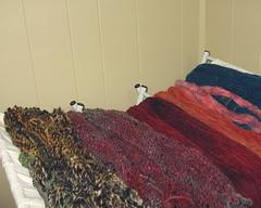 yarn on drying rack