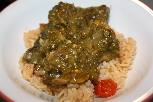 Pork Chile Verde w/Spanish Rice