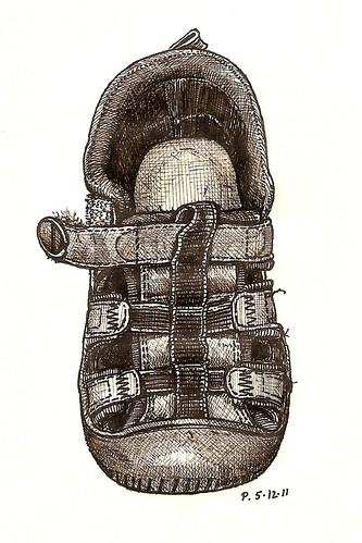 16, blue babygap sandal