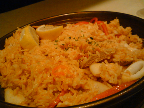 Paella at Pizza Hut Bistro