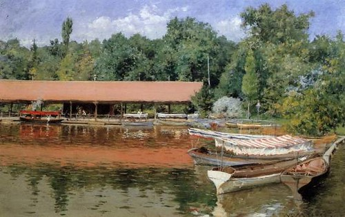 William-Merritt-Chase-Boat-House-Prospect-Park-Oil-Painting