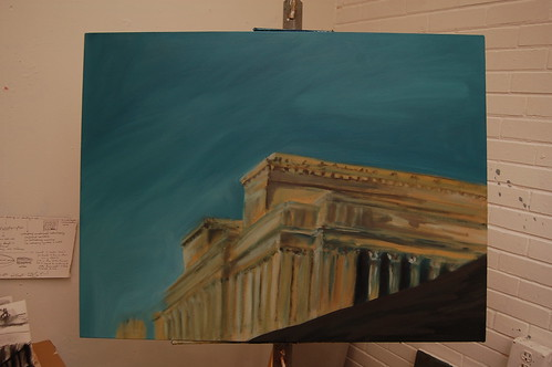 progress of a painting