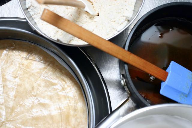 hazelnut brown butter mise