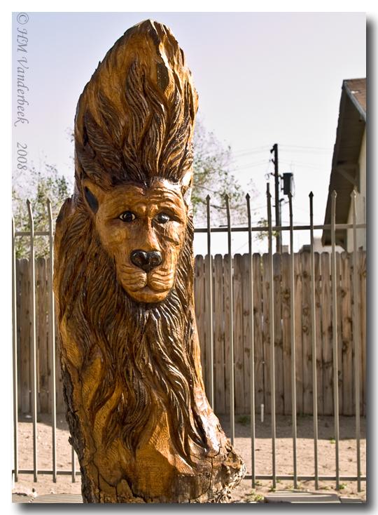 Lion Tree Sculpture