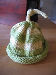 Striped Umbilical Cord Hat