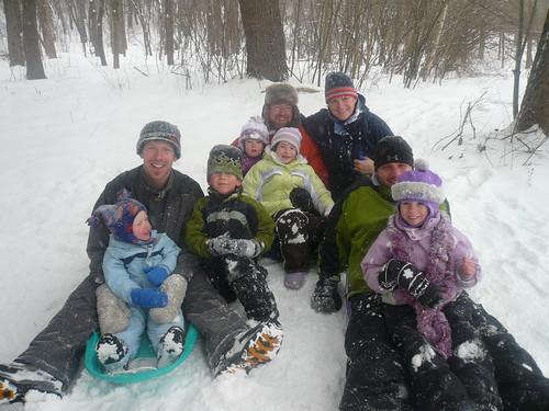 sledding group