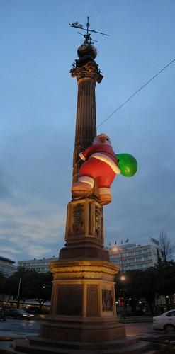 Obelisco A Coru�a en Navidad