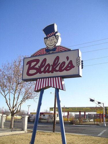 Blake's front sign