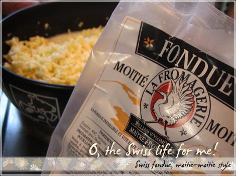 Swiss fondue!