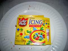 Cake Mate Cake Icing used on Cookies