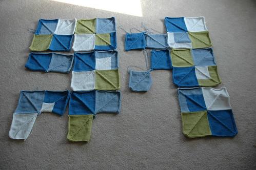 Mitered Square Blanket WIP