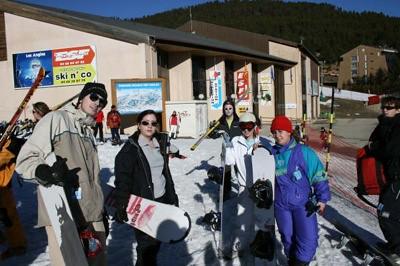 Imagen del pasado fin de semana antes de comenzar la sesión de snow