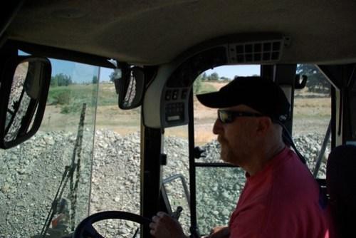 Dennis at the helm of a loader