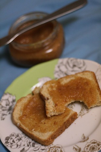 Honeyed Asian Pear Butter on Toast