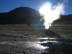 Geyser at Sunrise