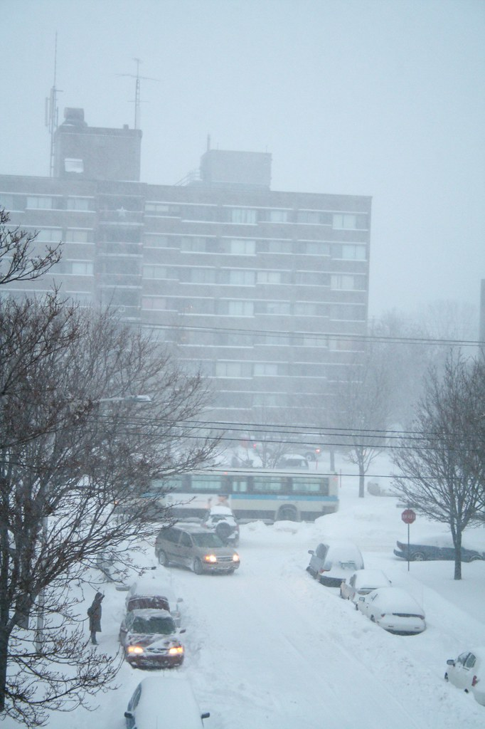 Now THIS is an authentic *beginning* of snow storm in Montreal! lol