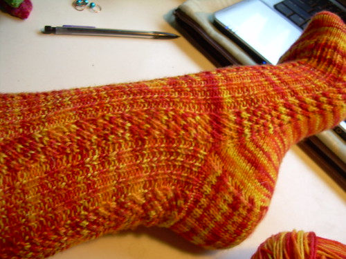 Diagonal Rib sock