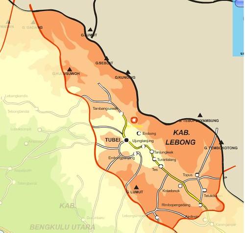 Peta Kabupaten Lebong Tun Lebong S Weblog