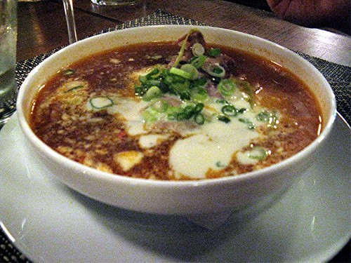 spicy beef soup at Joule