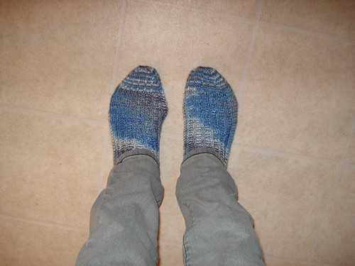 Completed Icicle Socks