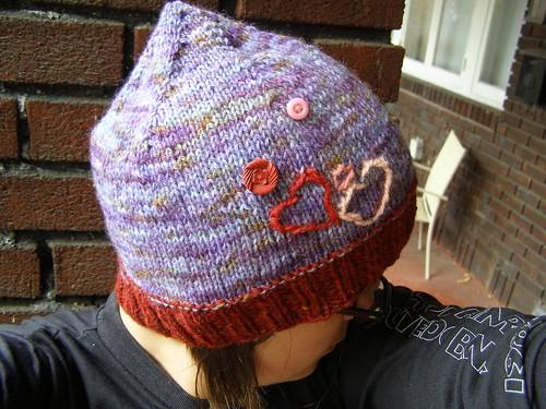 valentines day hat - top