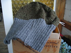lichen jumper, on the needles
