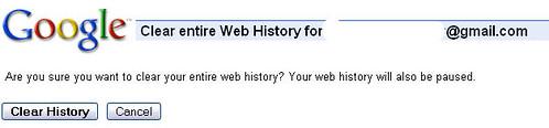 Google Web History sucks