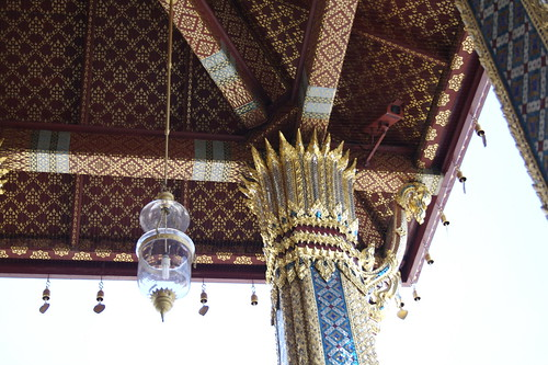 detail of temple of the emerald buddha rooftop