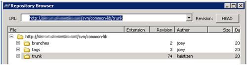 SVN - Repository Browser